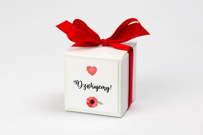 Pudełeczko z personalizacją - Kwiaty: maki