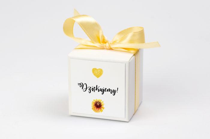 Pudełeczko z personalizacją - Kwiaty: słoneczniki