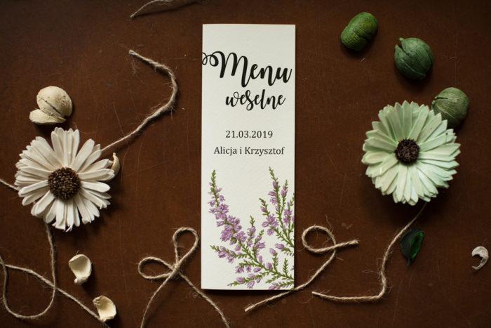 menu-weselne-pasujace-do-zaproszenia-kwiaty-wrzosy-papier-satynowany
