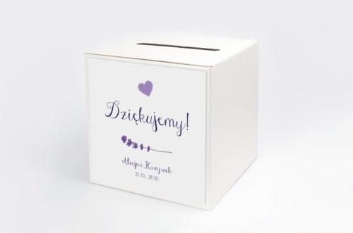 Personalizowane pudełko na koperty - Kwiaty: Lawenda