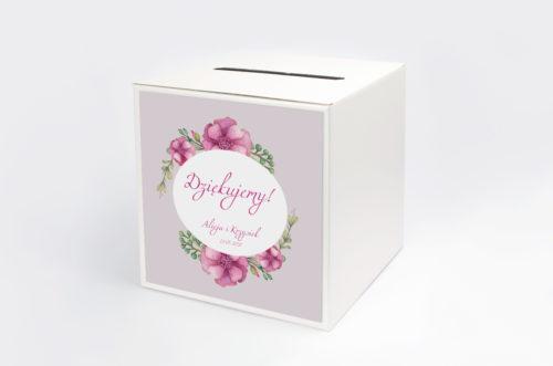 Personalizowane pudełko na koperty - Kwiaty: Piwonie