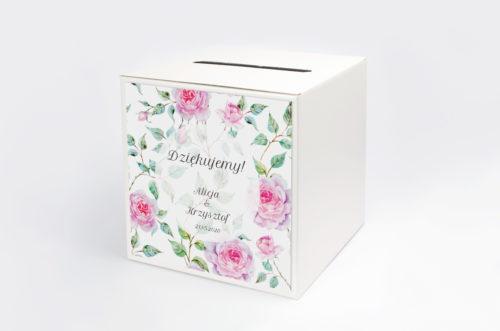 Personalizowane pudełko na koperty - Kwiaty: Róże