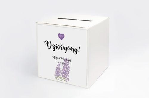 Personalizowane pudełko na koperty - Kwiaty Vintage: Bzy