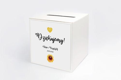 Personalizowane pudełko na koperty - Kwiaty: Słoneczniki