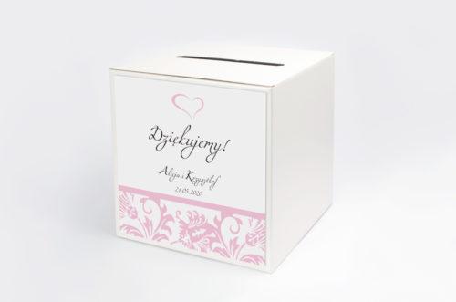 Personalizowane pudełko na koperty - Ornament na pasku wzór 4