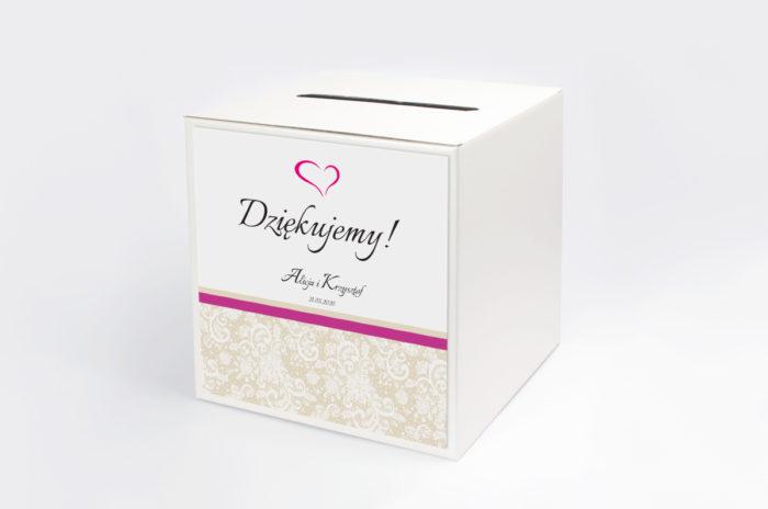 personalizowane-pudelko-na-koperty-ornament-z-koronka-fuksja-wzor-1-papier-matowy