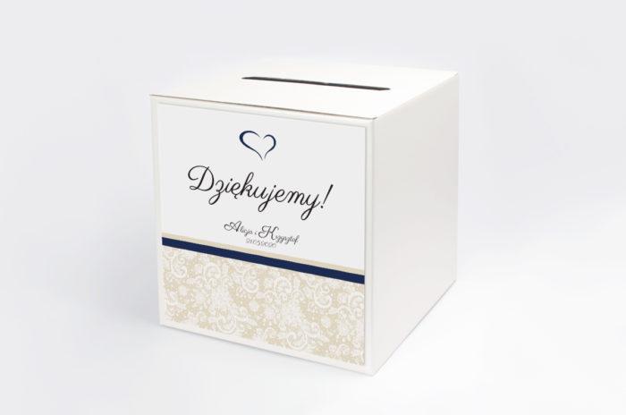 personalizowane-pudelko-na-koperty-ornament-z-koronka-granat-wzor-2-papier-matowy