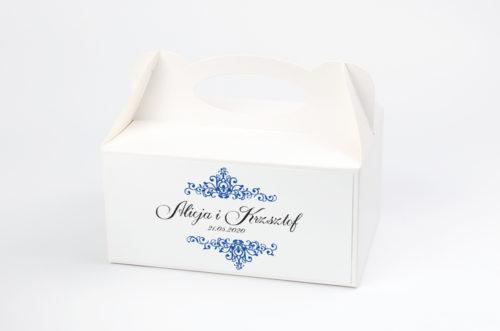 Ozdobne pudełko na ciasto - 3D Niebieskie