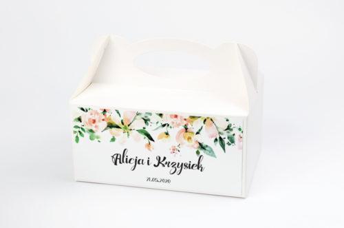 Ozdobne pudełko na ciasto - Boho Biała Magnolia