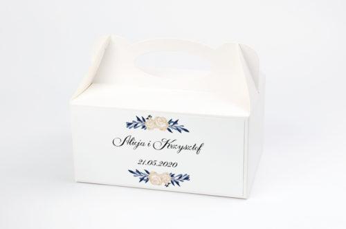 Ozdobne pudełko na ciasto - Boho wzór 11