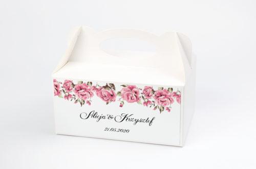 Ozdobne pudełko na ciasto - Boho wzór 4