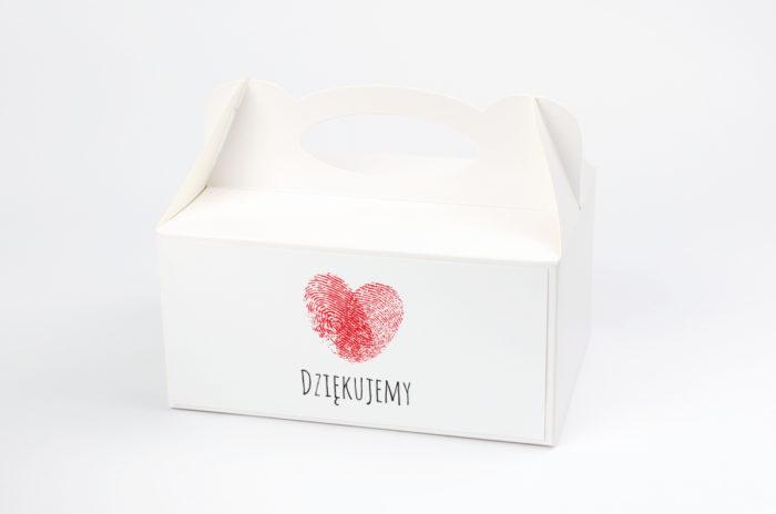 Ozdobne pudełko na ciasto - Eko z motywem serca