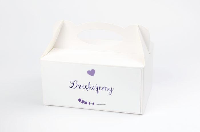 Ozdobne pudełko na ciasto - Kwiaty: Lawenda