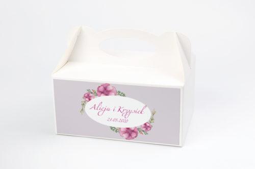 Ozdobne pudełko na ciasto - Kwiaty: Piwonie