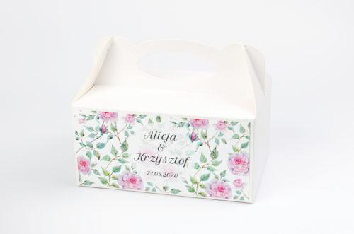 Ozdobne pudełko na ciasto - Kwiaty: Róże
