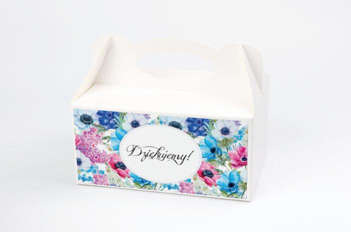 Ozdobne pudełko na ciasto - Kwiaty: Polne