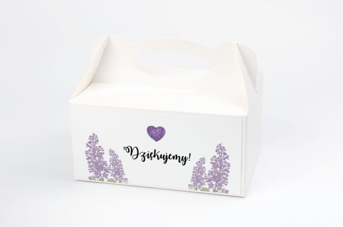 Ozdobne pudełko na ciasto - Kwiaty: Bzy