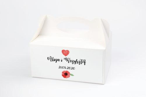 Ozdobne pudełko na ciasto - Kwiaty: Maki