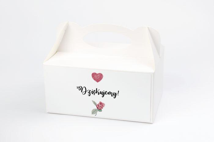 Ozdobne pudełko na ciasto - Kwiaty: Różyczki