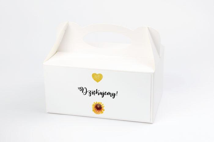 Ozdobne pudełko na ciasto - Kwiaty: Słoneczniki