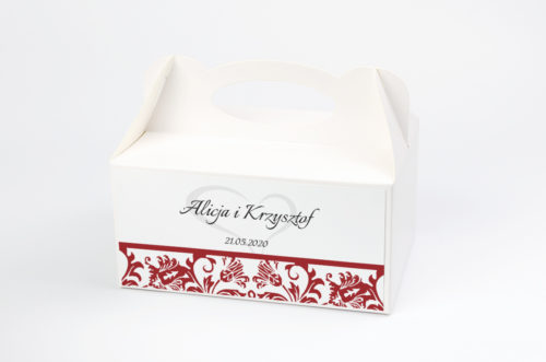 Ozdobne pudełko na ciasto - Ornament wzór 5