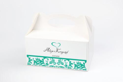Ozdobne pudełko na ciasto - Ornament wzór 8