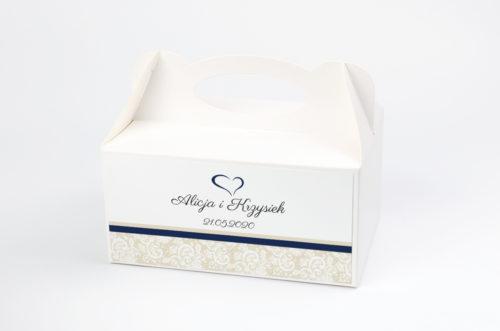Ozdobne pudełko na ciasto - Ornament z koronką wzór 2