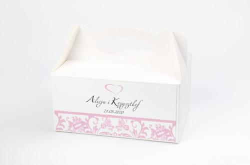 Ozdobne pudełko na ciasto - Ornament wzór 4