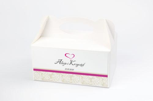 Ozdobne pudełko na ciasto - Ornament z koronką wzór 1