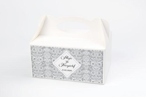 Ozdobne pudełko na ciasto - Rustykalne z kokardą