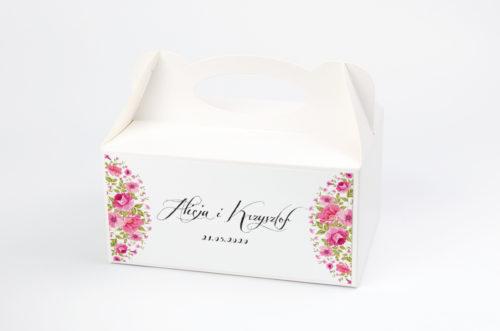 Ozdobne pudełko na ciasto - Wianuszki Ogrodowe Róże