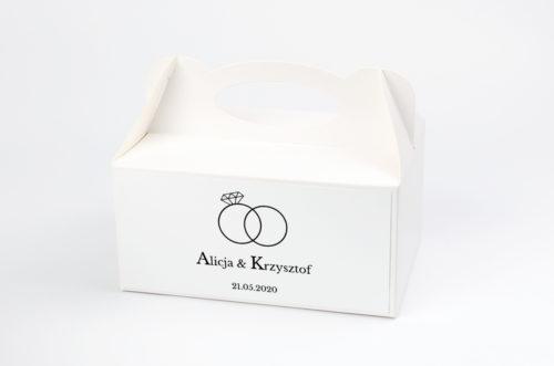 Ozdobne pudełko na ciasto - Złote Obrączki