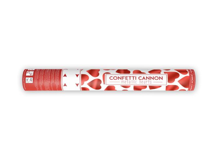 Strzelające konfetti - Czerwone serca