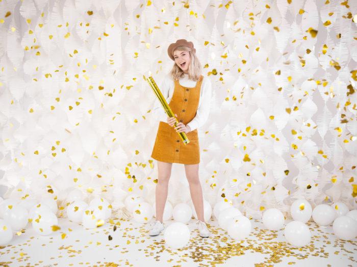 Strzelające konfetti - Złote serca