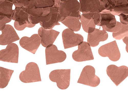 Strzelające konfetti - Serca w kolorze różowego złota