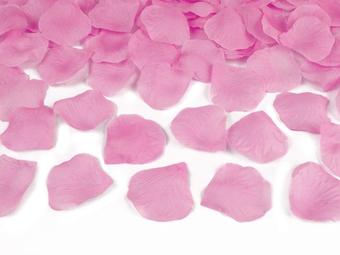 Strzelające konfetti - Różowe płatki róż
