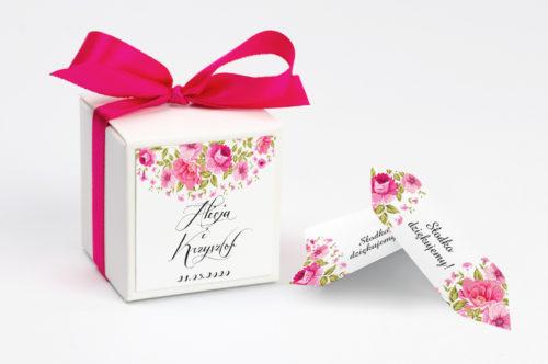 Pudełeczko z personalizacją - Wianki z kokardą Ogrodowe Róże