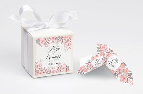 Pudełeczko z personalizacją - Wianuszki Pudrowe Kwiaty
