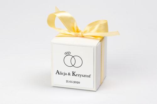 Pudełeczko z personalizacją - Złote Obrączki