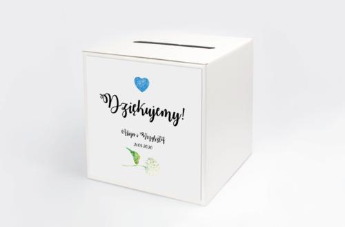 Personalizowane pudełko na koperty - Rustykalne Kwiaty: Hortensje