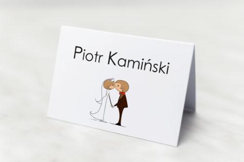 Winietka ślubna Lolki całujące się