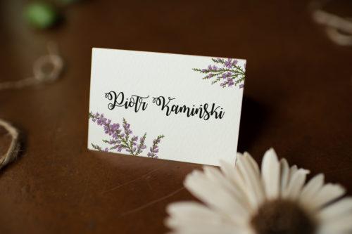 Winietka ślubna do zaproszenia Kwiaty - Wrzosy