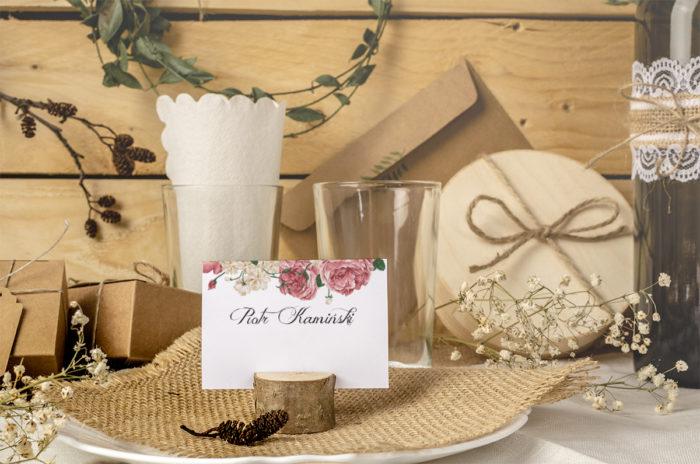 winietka ślubna z pudrowymi kwiatami