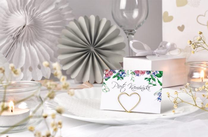 winietka ślubna z kwiatami