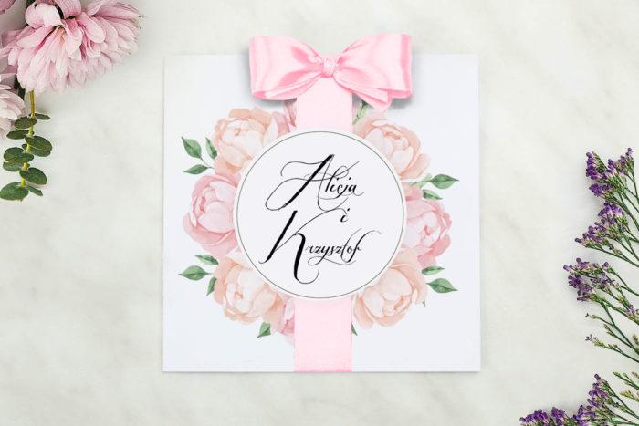 nowoczesne-zaproszenie-slubne-wianki-z-kokarda-herbaciane-roze-papier-matowy-kokarda-na-kleju--koperta-k4-szara