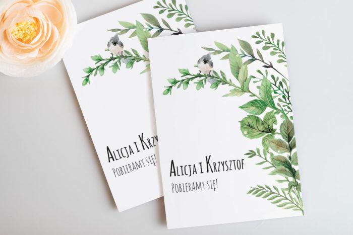 rustykalne-zaproszenie-slubne-botaniczne-z-ptaszkiem-papier-satynowany
