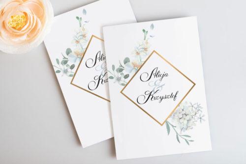 zaproszenie ślubne delikatne