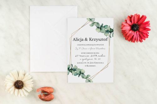 zaproszenie ślubne na jednej kartce