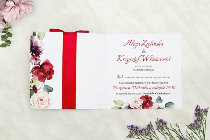 zaproszenie na ślub czerwone
