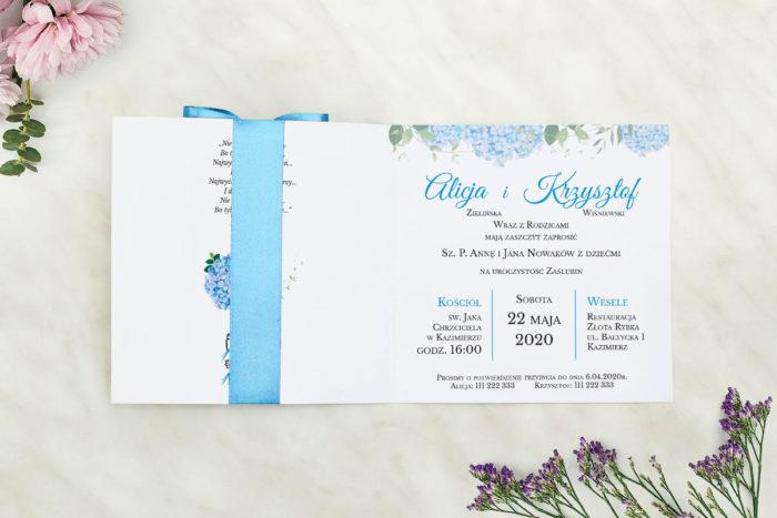 zaproszenie ślubne środek